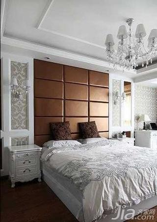 欧式风格跃层简洁豪华型140平米以上卧室床头柜效果图