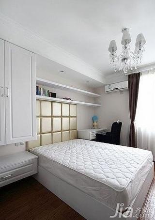 欧式风格跃层简洁豪华型140平米以上客厅卧室背景墙床效果图