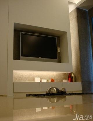 简约风格二居室5-10万50平米电视背景墙新房家装图片