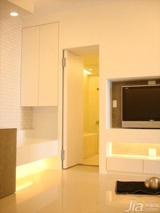 简约风格二居室5-10万50平米电视背景墙新房家装图