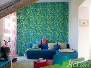 欧式风格小户型5-10万70平米客厅壁纸图片