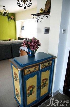 地中海风格二居室10-15万80平米玄关鞋柜婚房家装图片