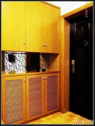 日式风格二居室5-10万70平米玄关玄关柜新房家装图