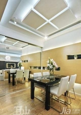 简约风格二居室10-15万90平米吊顶餐桌新房家装图片