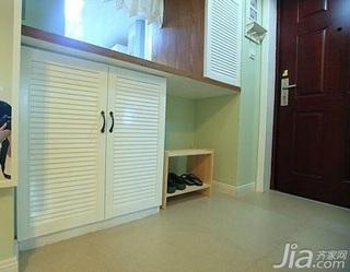 田园风格二居室5-10万90平米玄关鞋柜效果图