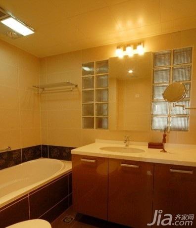 简欧风格白色卫生间台盆图片
