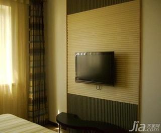 中式风格四房5-10万120平米电视背景墙窗帘新房家装图