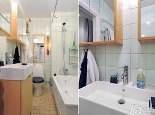 欧式风格公寓10-15万70平米卫生间新房平面图