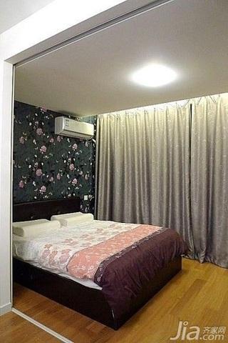 简约风格一居室3万以下50平米卧室窗帘效果图