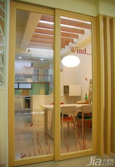 loft风格跃层富裕型80平米餐厅隔断餐桌新房家装图片