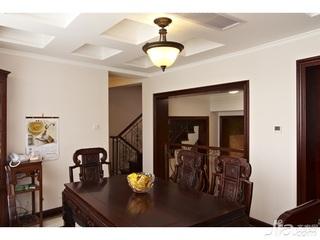 简约风格别墅豪华型140平米以上餐厅餐桌新房平面图