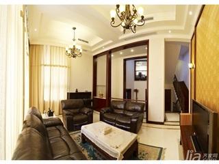 简约风格别墅豪华型140平米以上客厅吊顶茶几新房家装图片