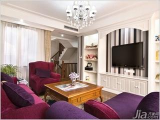 欧式风格复式豪华型140平米以上客厅电视背景墙沙发新房平面图