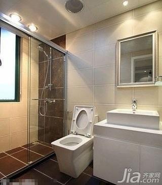 简约风格四房简洁白色富裕型110平米卫生间洗手台婚房家装图