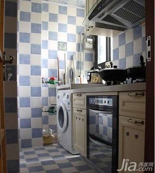 田园风格小户型实用经济型40平米厨房橱柜设计