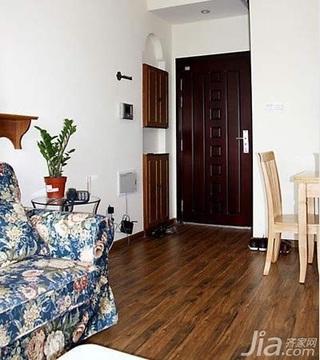 田园风格小户型实用经济型40平米客厅鞋柜效果图