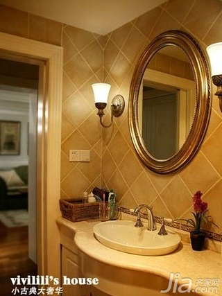 欧式风格四房15-20万70平米卫生间洗手台新房设计图