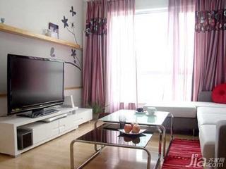 简约风格二居室5-10万70平米客厅茶几婚房家装图片