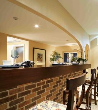 地中海风格复式豪华型140平米以上吧台吧台椅图片