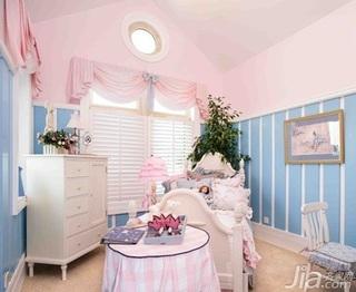地中海风格复式梦幻豪华型140平米以上卧室床效果图