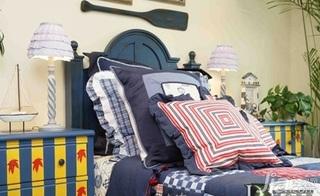 地中海风格复式豪华型140平米以上卧室床效果图