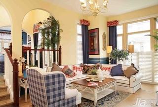 地中海风格复式豪华型140平米以上客厅沙发效果图
