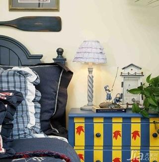 地中海风格复式豪华型140平米以上卧室床头柜效果图