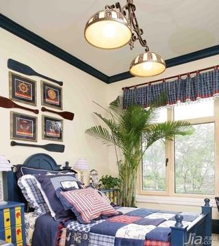 地中海风格复式豪华型140平米以上卧室卧室背景墙床效果图