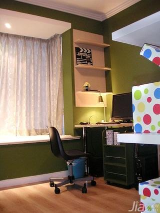 欧式风格二居室10-15万80平米书房飘窗书桌新房家装图片