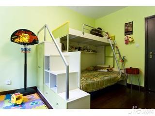 中式风格四房可爱10-15万120平米儿童房儿童床新房家装图片