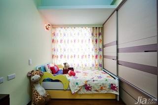 简约风格二居室5-10万90平米儿童房衣柜新房家装图片