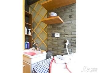 东南亚风格二居室5-10万80平米新房家装图片