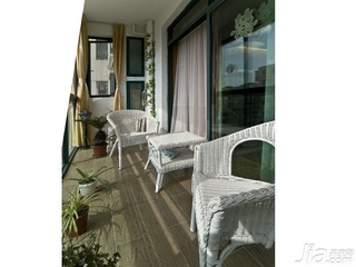 东南亚风格二居室5-10万80平米阳台新房家装图片
