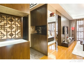中式风格四房10-15万90平米客厅电视柜新房家装图