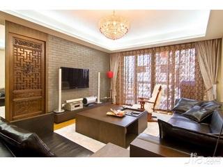 中式风格四房10-15万90平米客厅沙发新房家装图
