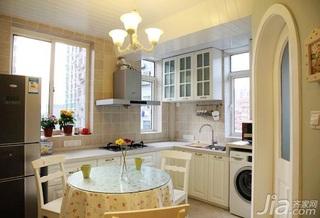 田园风格二居室实用10-15万90平米厨房餐桌新房家装图片