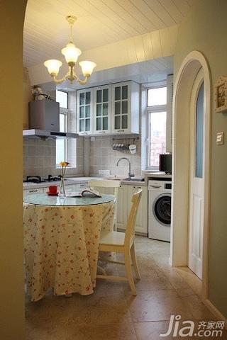 田园风格二居室10-15万90平米厨房餐桌新房平面图