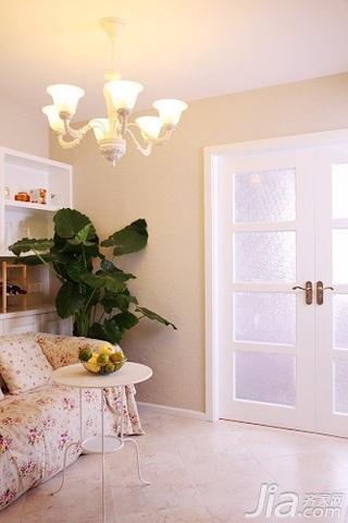 田园风格二居室10-15万90平米客厅新房设计图
