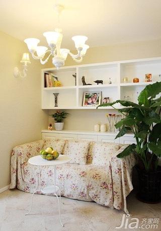 田园风格二居室10-15万90平米客厅沙发新房家居图片
