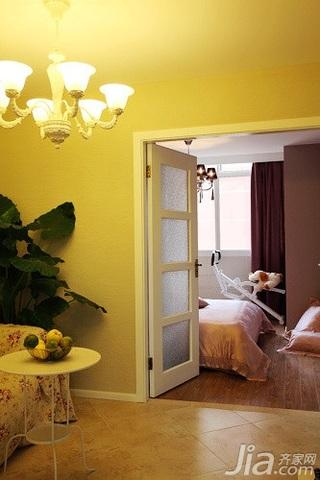 田园风格二居室10-15万90平米客厅茶几新房家居图片