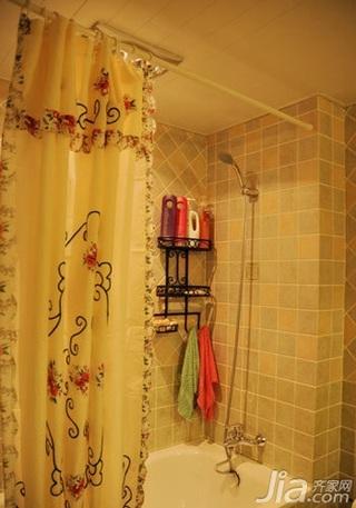 田园风格二居室10-15万80平米卫生间三口之家设计图纸