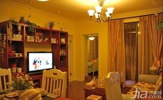 田园风格二居室10-15万80平米餐厅灯具三口之家家居图片