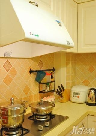 田园风格二居室10-15万80平米厨房三口之家设计图纸