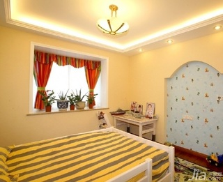 欧式风格四房简洁10-15万120平米卧室卧室背景墙床新房家装图