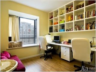 简约风格二居室5-10万80平米书房飘窗书桌新房家装图片