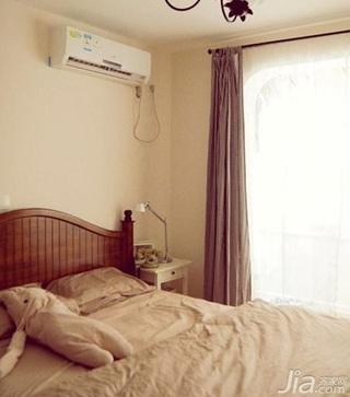 日式风格四房5-10万80平米卧室窗帘新房家装图
