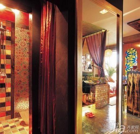 东南亚风格小户型5-10万50平米装修图片