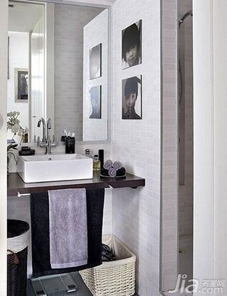 简约风格小户型3万以下50平米卫生间洗手台效果图