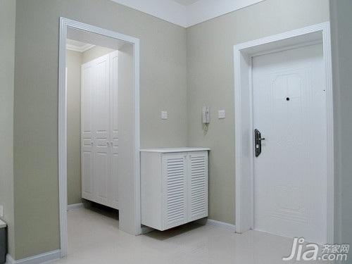 简约风格二居室5-10万80平米玄关鞋柜三口之家家装图片