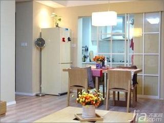 简约风格二居室5-10万70平米餐厅餐桌新房平面图